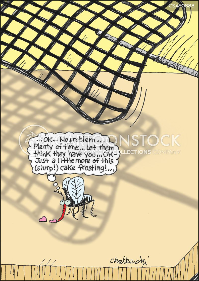 Fly Swatter Cartoons And Comics Funny Pictures From Cartoonstock