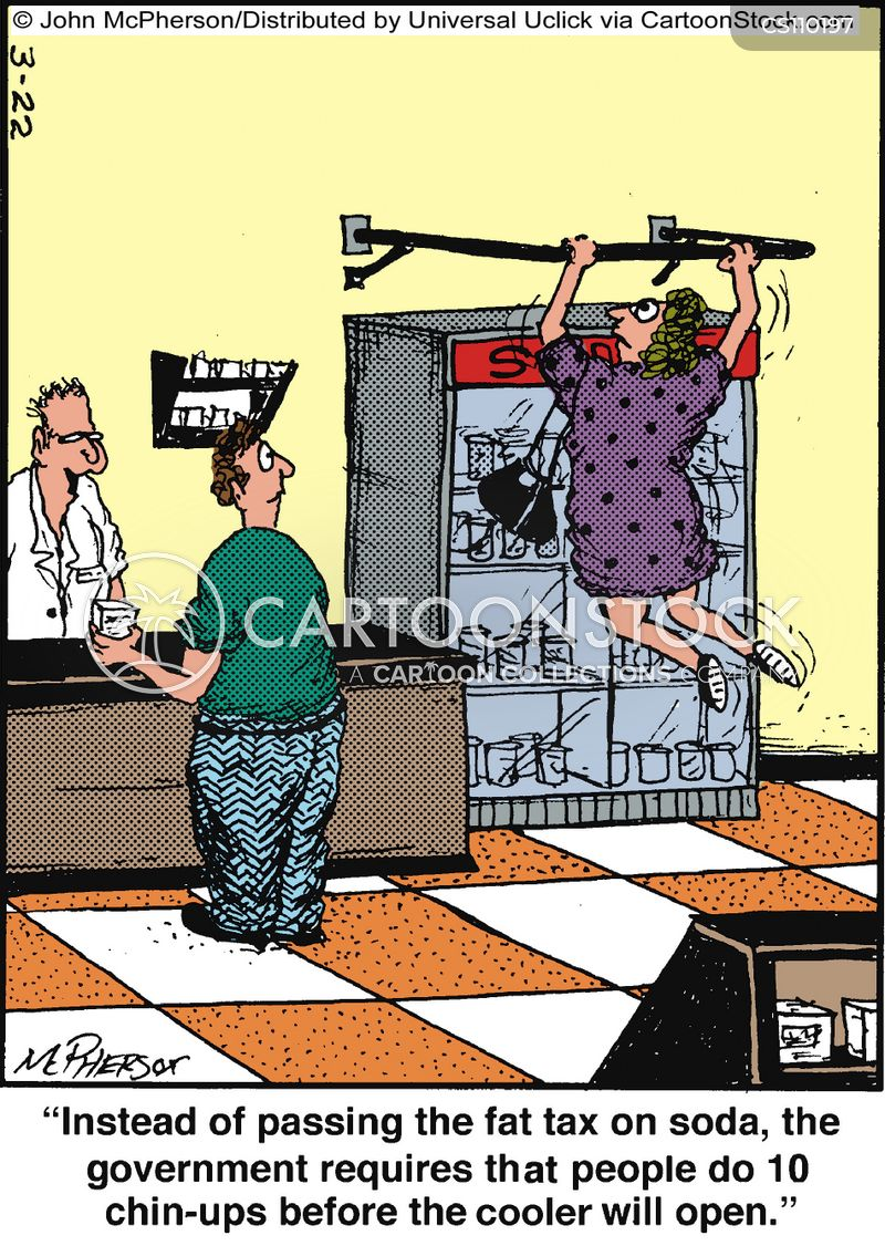 Fat Tax Cartoons And Comics Funny Pictures From CartoonStock