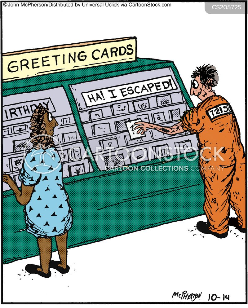 Criminal On The Run Cartoons and Comics   funny pictures from     greeting cards