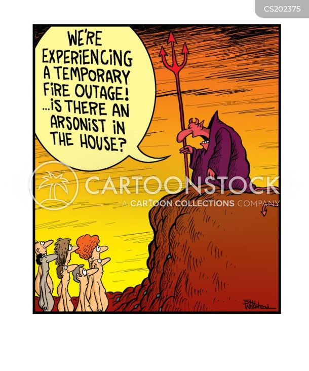 Image result for arsonist cartoons