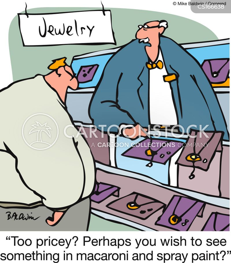 Jewelry Cartoons And Comics Funny Pictures From CartoonStock