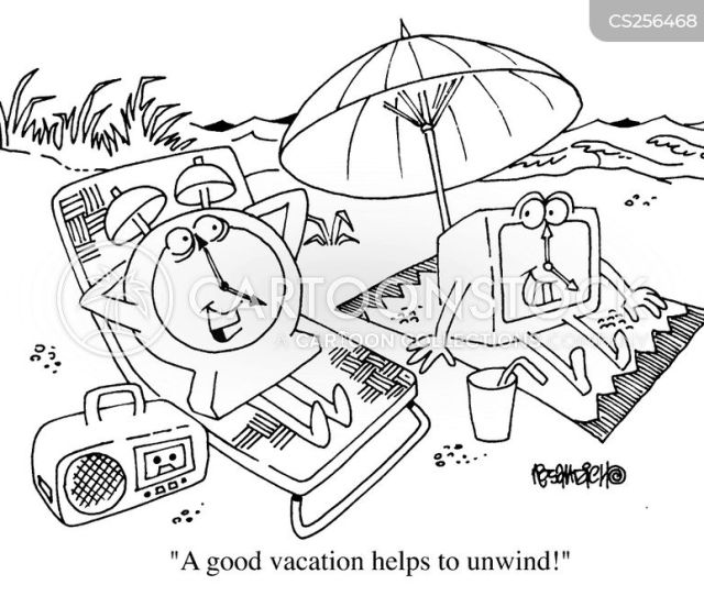 Holiday Break Cartoon