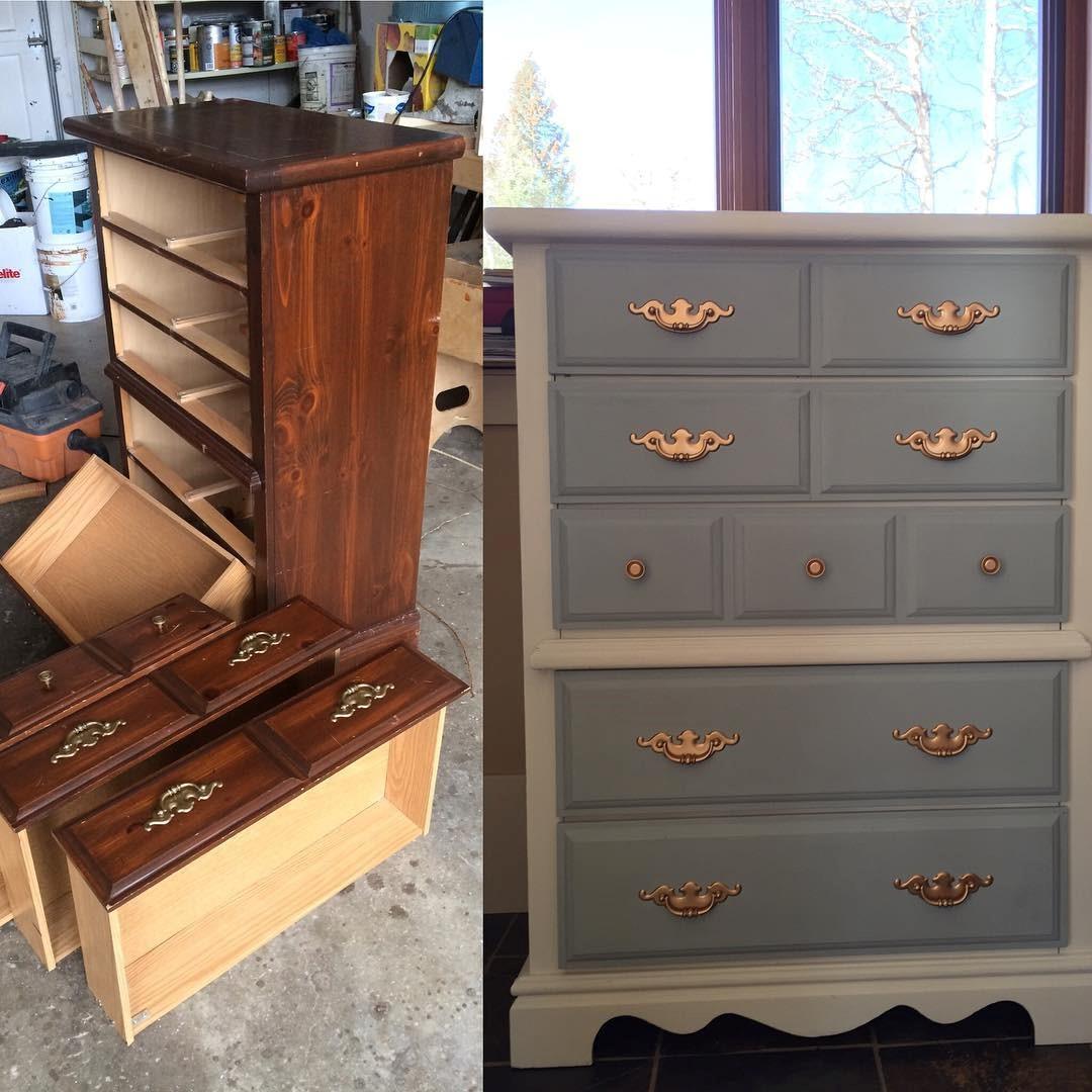 relooking de meubles bricolage avec peinture a la craie
