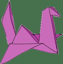 folded bird