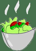 fresh baked salad