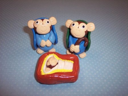 monkey nativity