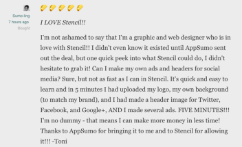 Get lifetime access to Stencil for $49
