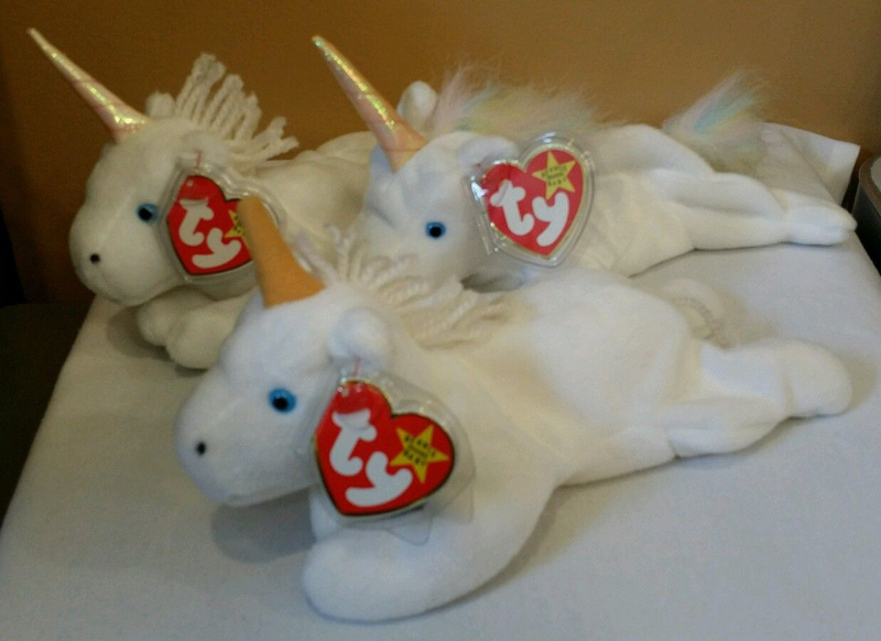 7efd75fffc4 Mystic the Unicorn was released in four different styles from 1994 to 1999