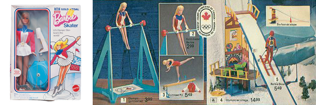barbie winter olympics 1975 figure skater gymnast skier