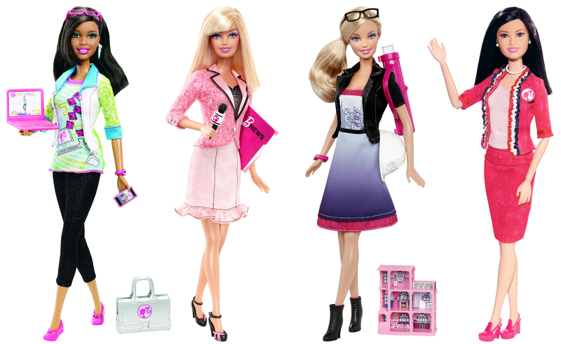 barbie computer engineer news anchor architect president