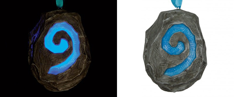 world of warcraft hearthstone holiday ornament glow in the dark