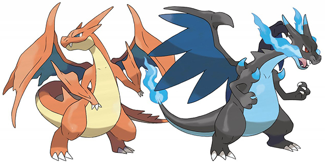 Pokemon X Y Charizard Mega Evolutions