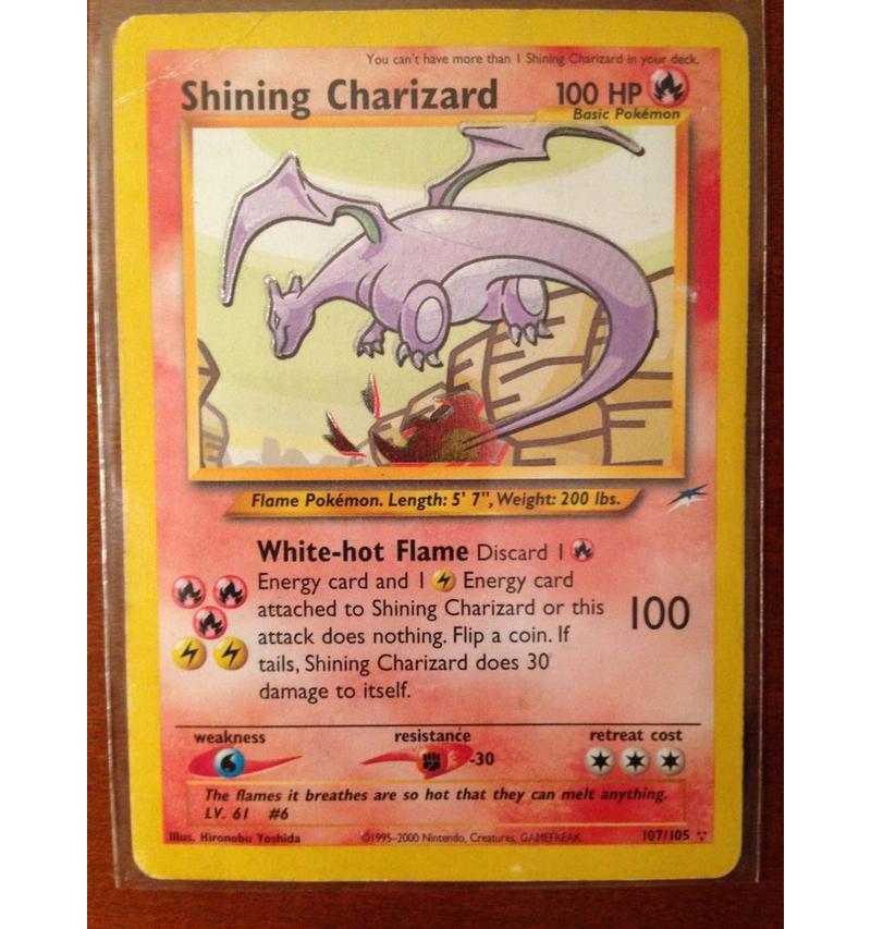 The ShiningCharizard Card