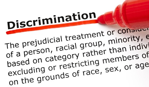 "Definition of the word, ""Discrimination,"" The prejudicial treatment or consideration of a person, racial group or minority based on category rather than individual merit, excluding or restricting members on the grounds of race, sex or age."""