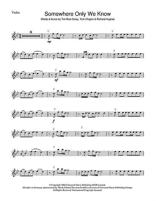Fancy Somewhere Only We Know Chords Piano Elaboration - Guitar ...