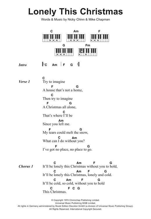 lonely this christmas piano chords christmaswalls co - This Christmas Chords