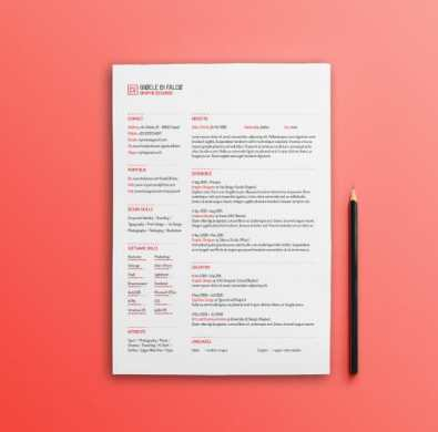 24 Free Resume Templates to Help You Land the Job free red minimal resume template