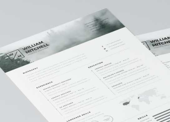 24 Free Resume Templates to Help You Land the Job free minimal resume template