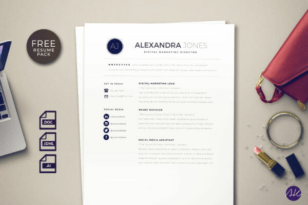24 Free Resume Templates to Help You Land the Job free resume template social media illustrator word indesign