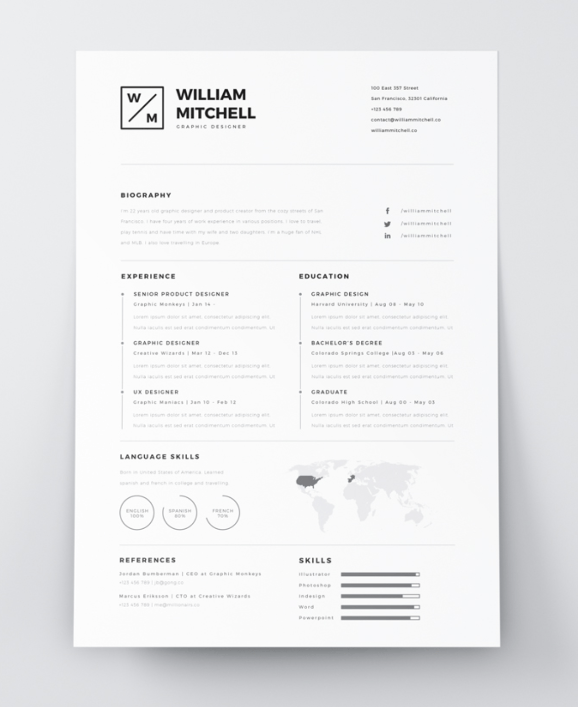 The Best Free Creative Resume Templates Of