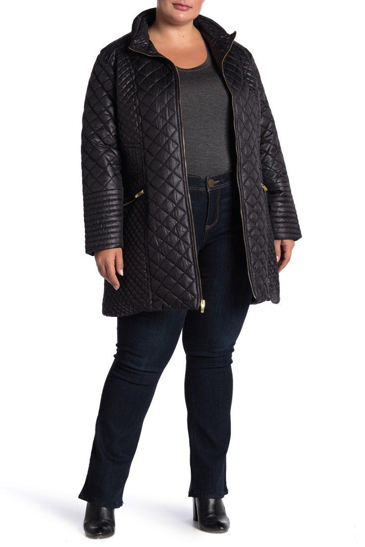 chic plus size coats under 75