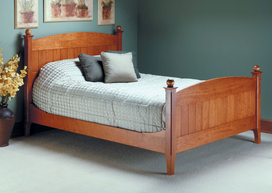 classic cherry bed woodworking