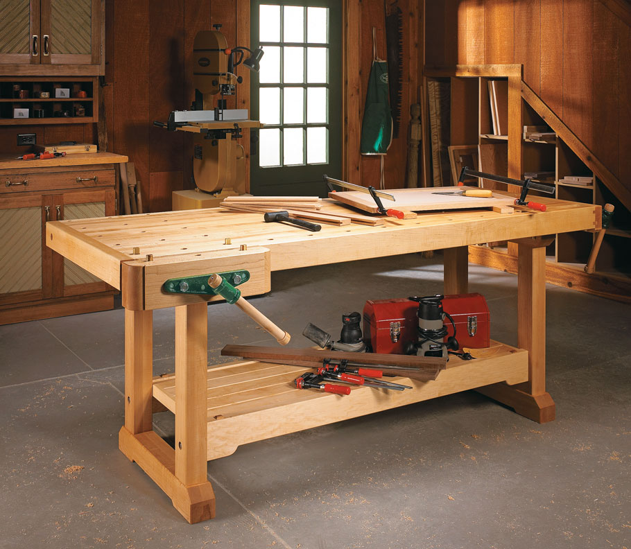 Traditional Workbench Woodworking Project Woodsmith Plans