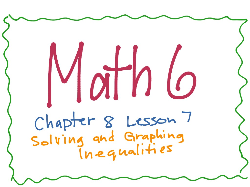Math 6 Chapter 8 Lesson 7 Solving And Graphing