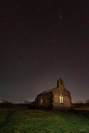 Landscape | Canvas wall art | Milkyway | St Mary's Church | Tadcaster