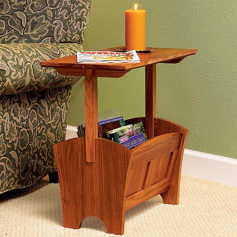 magazine rack table woodworking plan