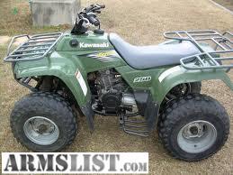ARMSLIST  For Sale: Kawasaki Bayou 250 atv