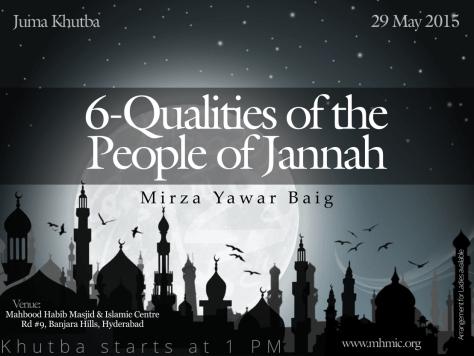 6-Qualities of people of Jannah Mirza Yawar Baig