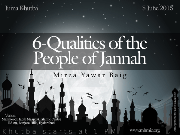 6 Qualities of people of Jannah - Part 2