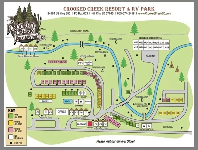 Black Hills Of Sd Crooked Creek Resort Rv Park For Sale In Hill City Sd 1046141