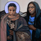 Vermont artist Janet McKenzie receives compliments and criticism for her racially diverse religious images.
