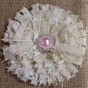 Unique Elegant Lace Burlap Flower