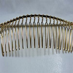 Gold Wire Veil Comb
