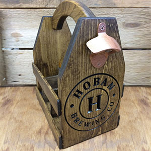 Personalized Wooden Beer Caddy for Groomsmen