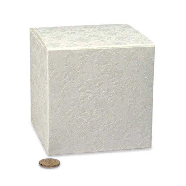 "Jewel Lace Favor Box Cardboard - Quantity: 200 - Favor Boxes Width: 4"" Height/Depth: 6 1/4"" Length: 4"" by Paper Mart"