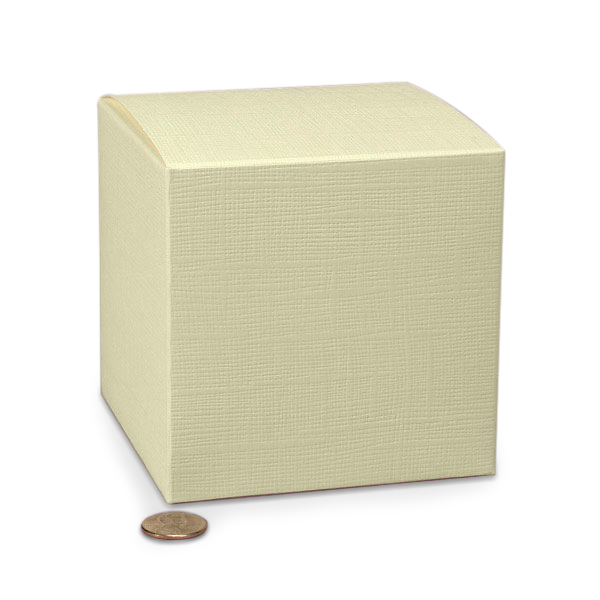 "Jewel Ivory Wedding Favor Boxes Cardboard - Quantity: 20 Width: 4"" Height/Depth: 4"" Length: 4"" by Paper Mart"