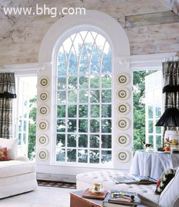 arched window treatment idea