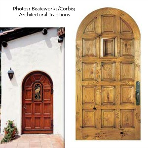 spanish eclectic wood entry door