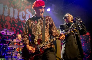 Captain Sensible and Dave Vanian of The Damned performing at Irving Plaza