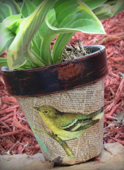 fun spring crafts decoupage flower pots