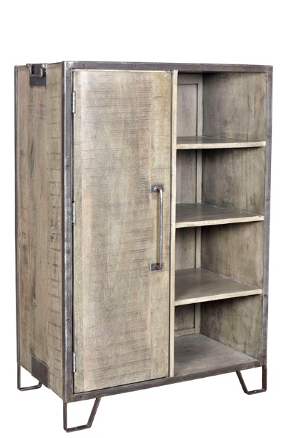 Iron And Wood Cabinet Nadeau Atlanta