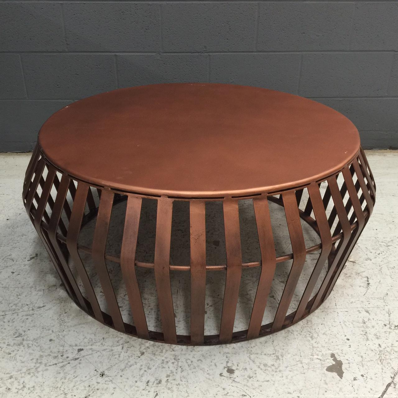 Round Metal Coffee Table Nadeau Nashville