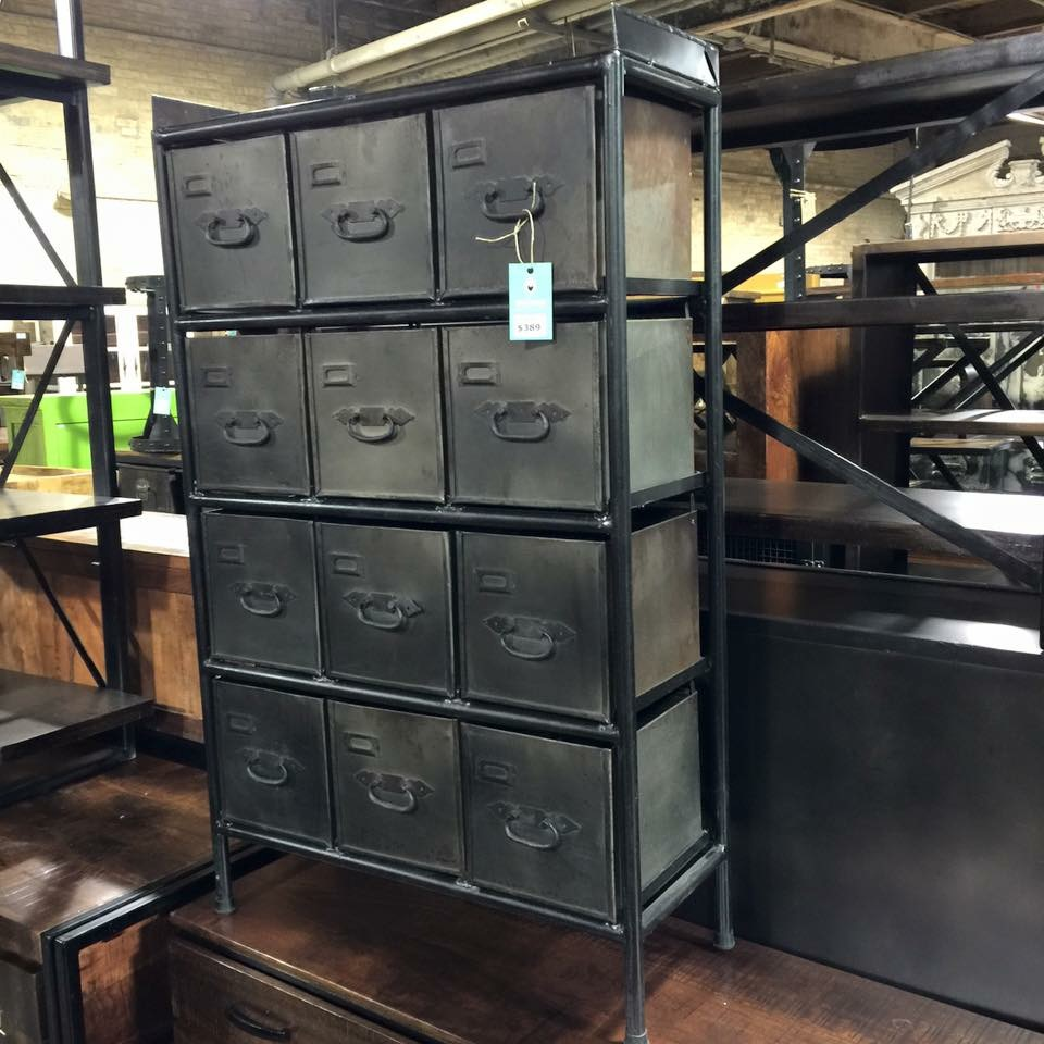 Industrial Dresser With Metal Drawers Nadeau Cincinnati