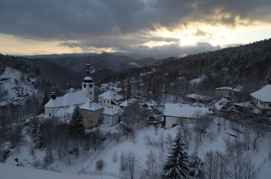 A view of Spania Dolina, an old silver and copper mining town near Banska Bystrica