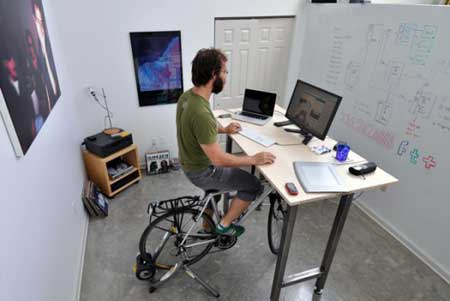 Under Desk Bike: Exercise All Day While At Work