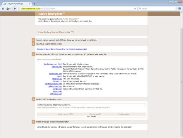 Screenshot - Locky Ransomware | IMG Via - AppRiver